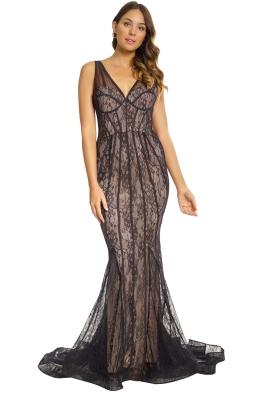 Jadore - Antonella Gown - Black - Front