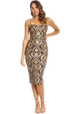 Jadore - Carita Dress - Gold - Front