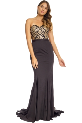 Jadore - Elsa Gown - Gold Black - Front