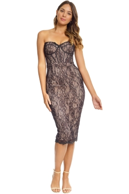 Jadore - Emilie Corset Dress - Black Nude - Front