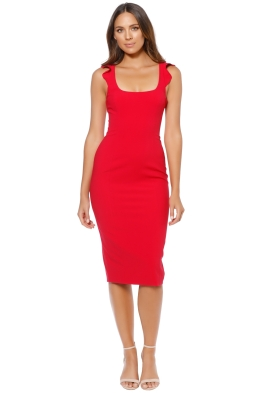 Jay Godfrey - Marois Midi Dress - Poppy - Front