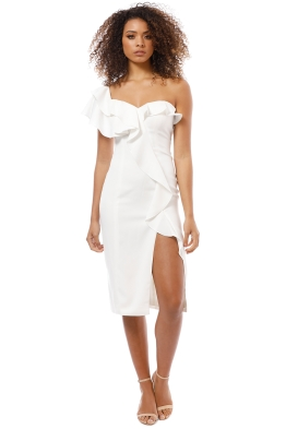 Jay Godfrey - Rono Midi Dress - Ivory - Front