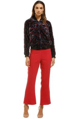 Joie-Mace-Quilted-Floral-Print-Velvet-Bomber-Jacket-Multi-Front
