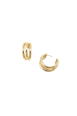 Jolie and Deen - Ally Hoop Earrings - Gold - Ghost Front