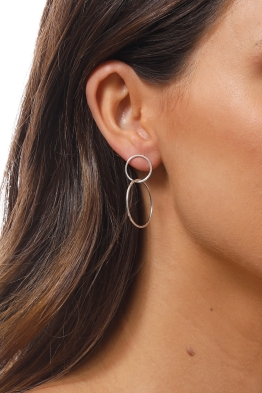 Jolie and Deen - Dale Earrings - Silver - Side