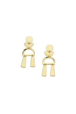 Jolie and Deen - Selma Earrings - Gold - Side