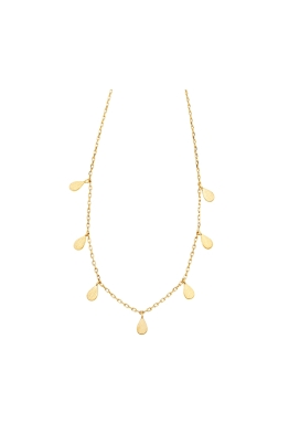 Jolie and Deen - Teardrop Necklace - Gold - Side