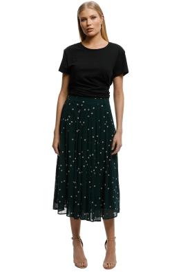 Kate-Sylvester-Dotty-Skirt-Forest-Green-Front