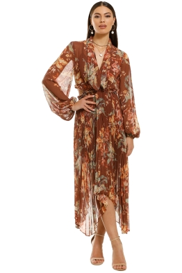 Keepsake-The-Label-Unravel-LS-Dress-Chocolate-Lily-Front