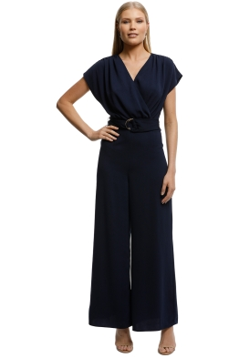 Keepsake The Label-Motor Jumpsuit-Navy-Front