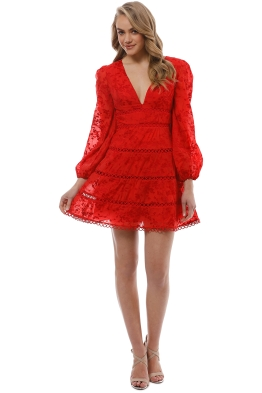 Keepsake the Label - About Us Dress - Red - Front