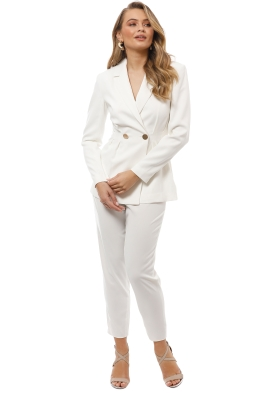 Keepsake the Label - Gone Again Blazer and Pant Set - Ivory - Front