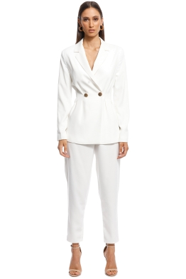 Keepsake the Label - Gone Again Blazer and Pant Set - White - Front