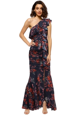 Keepsake The Label - Need You Now Gown - Navy Floral - Front