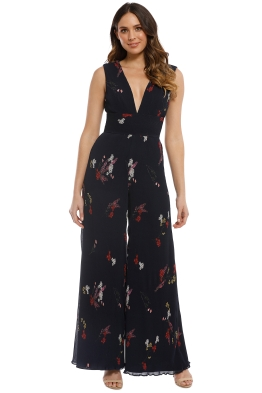 Keepsake the Label - Night Fall Jumpsuit - Navy Floral - Front