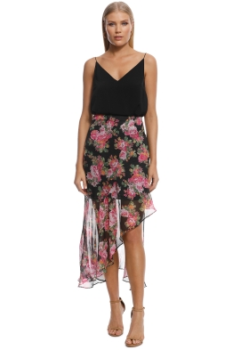 9de6abf34013b Keepsake the Label - Oblivion Skirt - Black Floral - Front