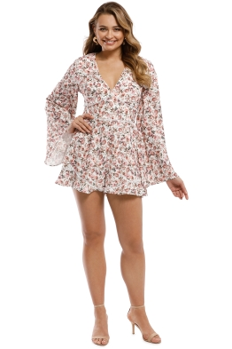 Keepsake the Label - One Love Playsuit - Ivory Rose Floral - Front