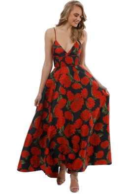 Keepsake the Label - Step Aside Gown - Red Floral - Front