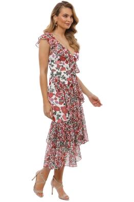 Keepsake the Label - Waves Midi Dress - Lilac Floral - Front 907ca1e7c