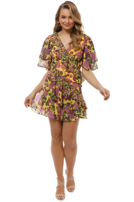 Keepsake the Label - Waves Mini Dress - Golden Floral - Front