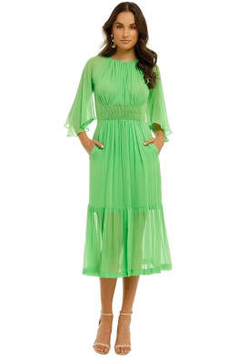 KITX-Fellowship-Dress-Neo-Green-Front