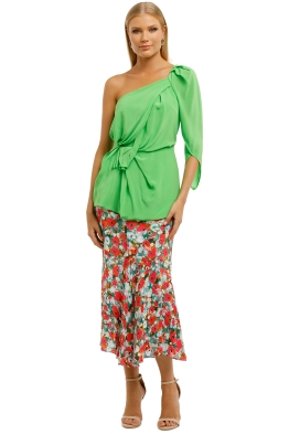 KITX-Lush-Nature-Drape-Top-Neo-Green-Front