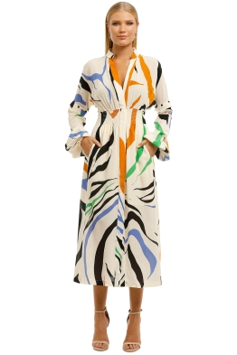 KITX-Rewilding-Nature-Shirred-Dress-Natur-Print-Front
