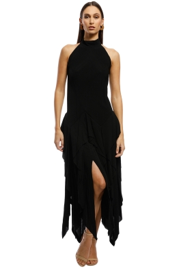 KITX - Solemn Halter Dress - Black - Front