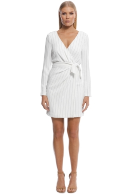 Kookai - Pinstripe Dress - White - Front
