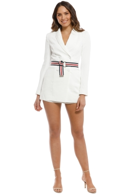 Kookai - Ribbon Playsuit - Natural White - Front