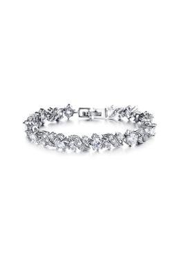 Krystal Couture - Zion Tennis Bracelet - Silver - Front