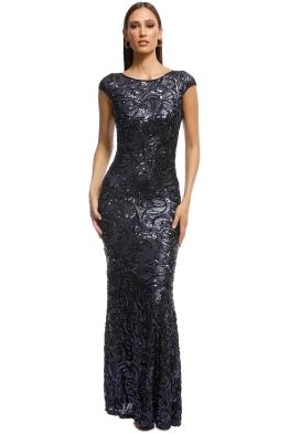 Langhem - Katia Sparkle Gown - Navy - Front