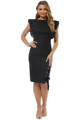 Leo and lin - Dusky Maiden Black Dress - Front