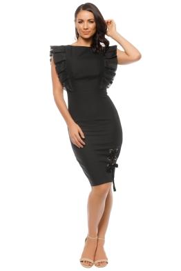 Leo & Lin -  Dusky Maiden Black Dress - Black - Front