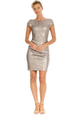 Les Demoiselle - Amara Sequin Dress - Silver - Front