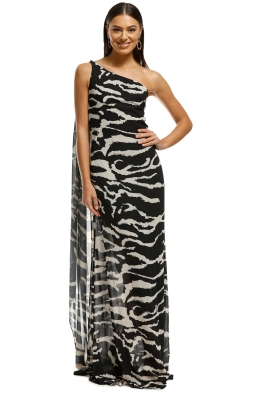 Lexi - Zola Dress - Black:Ivory - Back