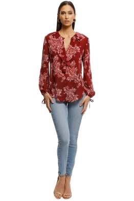 Lover-Mayflower-Blouse-Red-Floral-Front