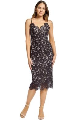 Lover - Ingenue Slip Dress - Black - Front