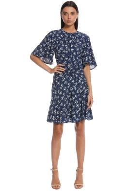 Lover - Mimosa Mini Dress - Navy - Front
