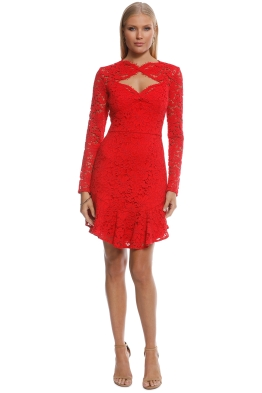 Lover - Petal Flip Dress - Red - Front