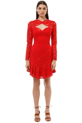 Lover the Label - Petal Flip Dress - Red - Front