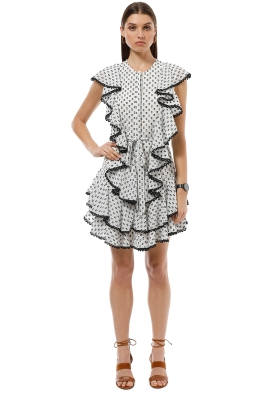 Lover the Label - Polka Mini Dress - Black White - Front
