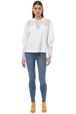 Lover the Label - Trinity Blouse - White - Front