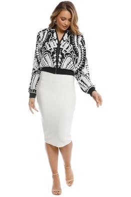 Madame X - Neema Jacket - Black White - Front