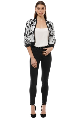 Madame X - Neema Jacket - Black White - Front