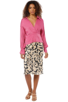 Manning Cartell - Status Update Blouse - Pink - Front