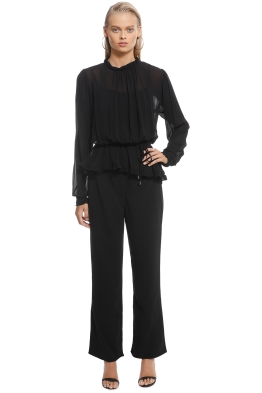 Ministry of Style - Mimosa Top - Black - Front