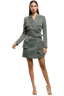 Misha-Collection-Jona-Dress-Olive-Front