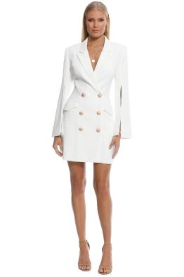 Misha Collection - Ariel Blazer Dress - Ivory - Front