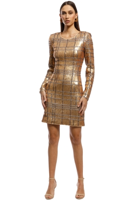 Misha Collection - Ava Sequin Dress - Gold - Front